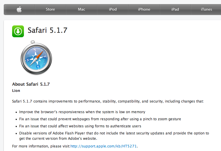 Download Safari 5 1 7 for Mac OS X and Windows