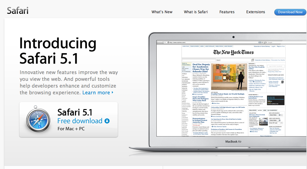 Safari 5. 1. 10 latest version download.