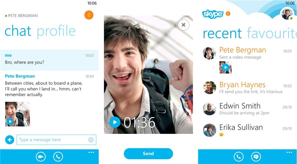 chat face para windows phone