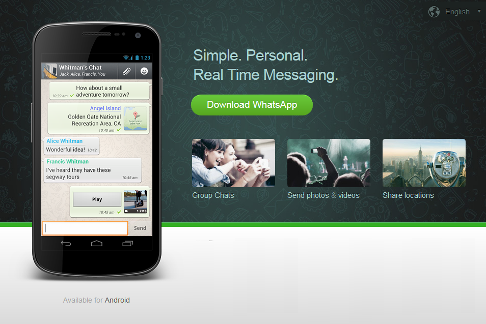 Download WhatsApp Messenger 2 11 19 for Android