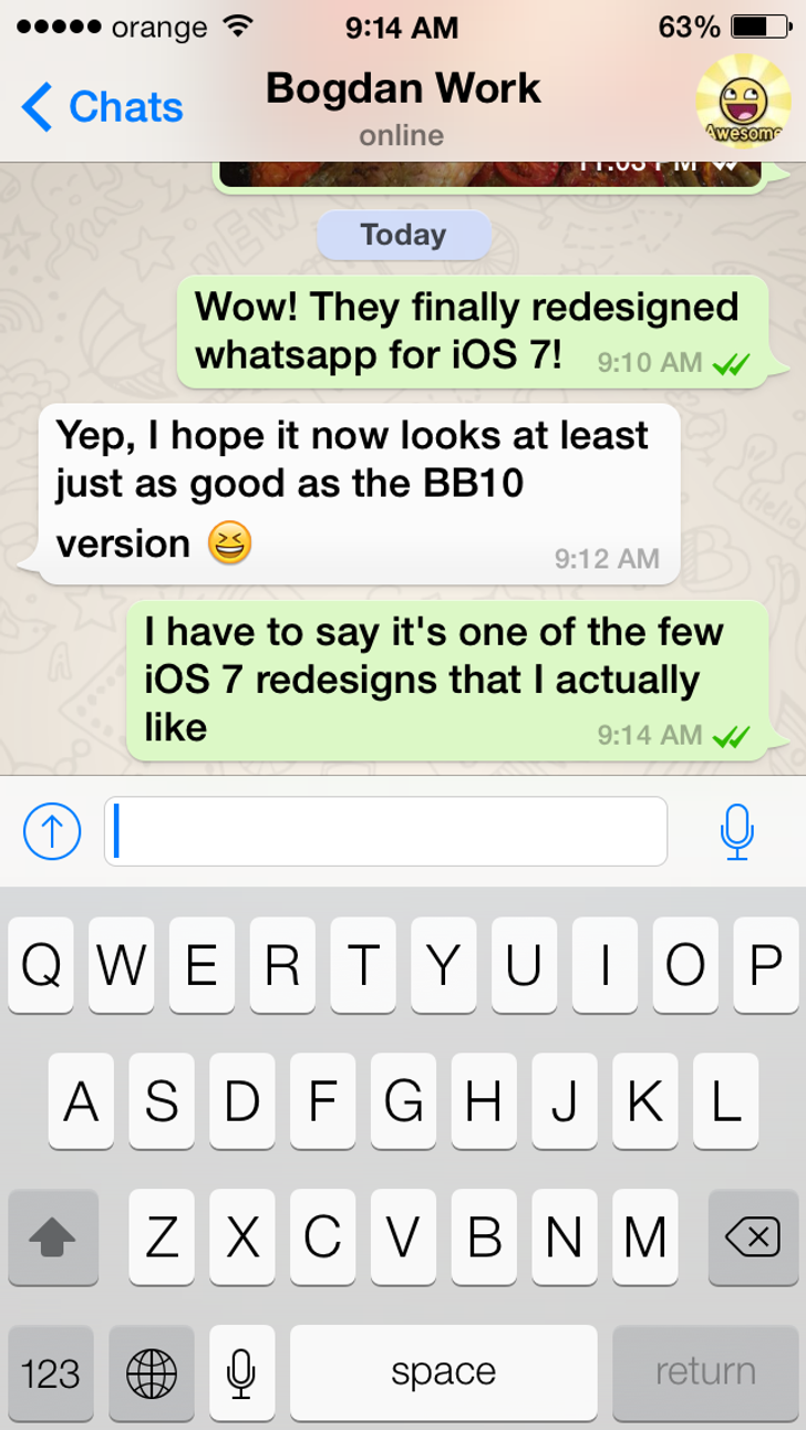 Download whatsapp messenger for ios 7 whatsapp messenger screenshot altavistaventures Choice Image