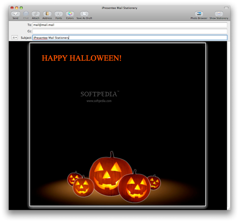 stationery templates example - Free Halloween Templates