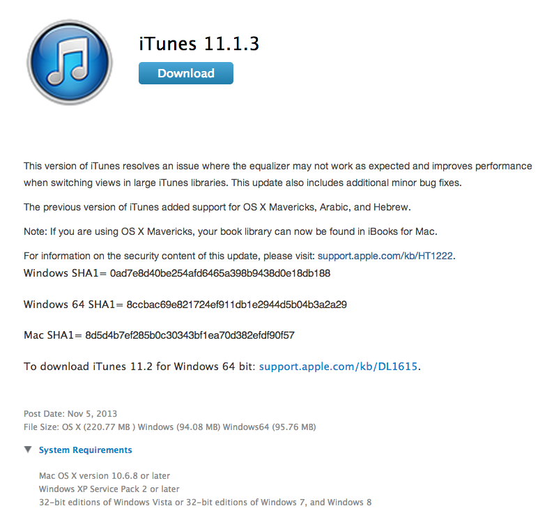 download itunes for windows 8 32 bit