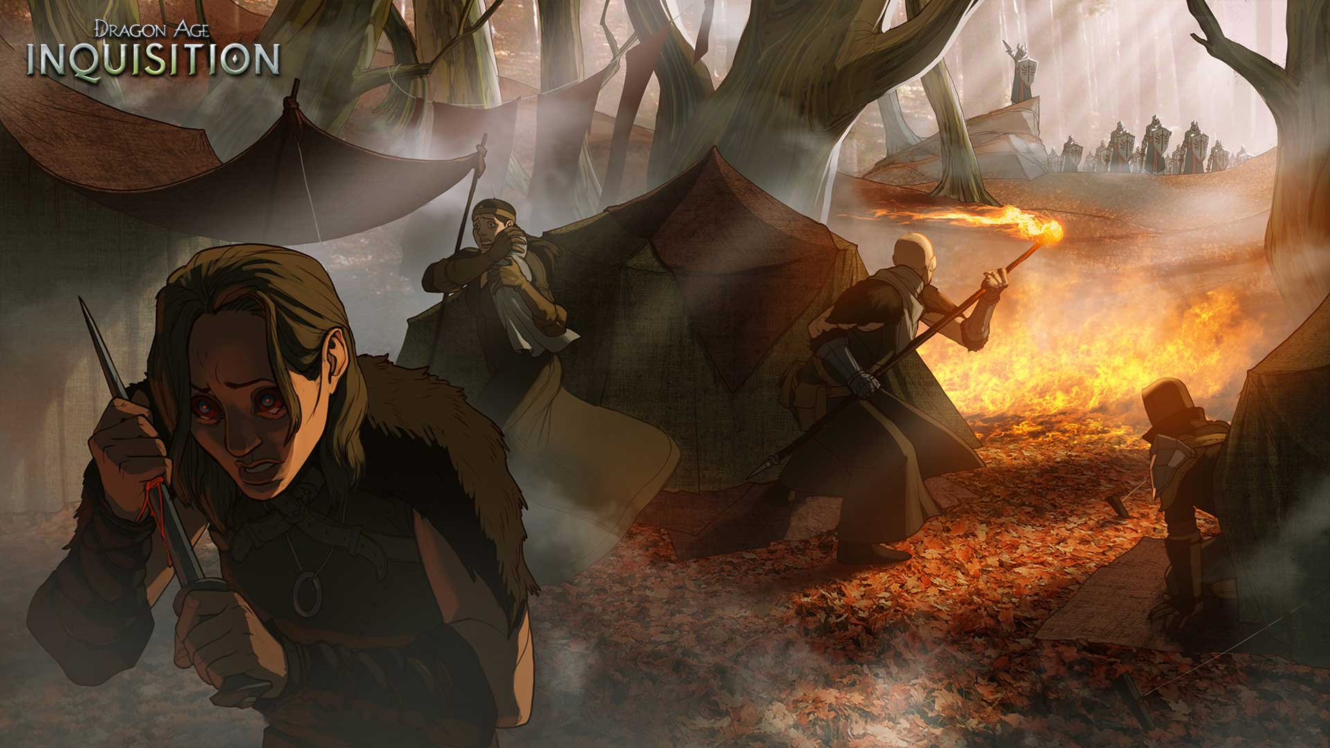 Blood Mages Breach Explosion Dragon Age Inquisition Concept Art 2more