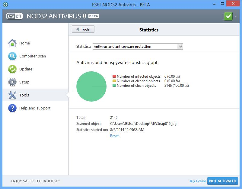 NOD32 antivirus protection for your Windows PC