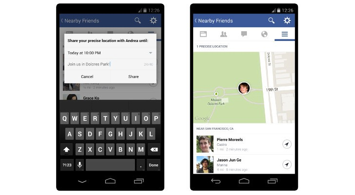 """Facebook Introducing Optional """"Nearby Friends"""" Feature for"""
