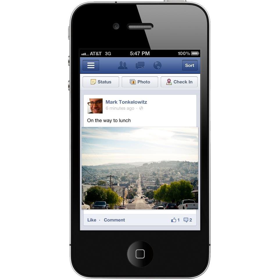 The Evolution Of Mobile App Design - Usability Geek |Facebook Mobile App