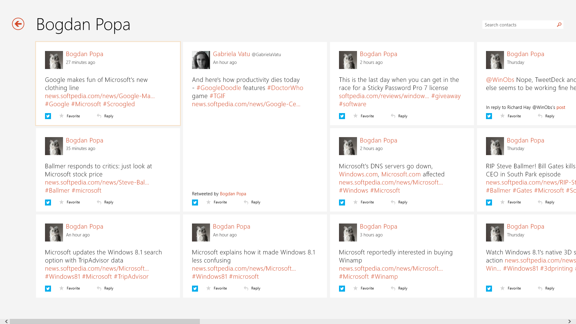 Twitter for windows 8 now available in the windows store | windows.