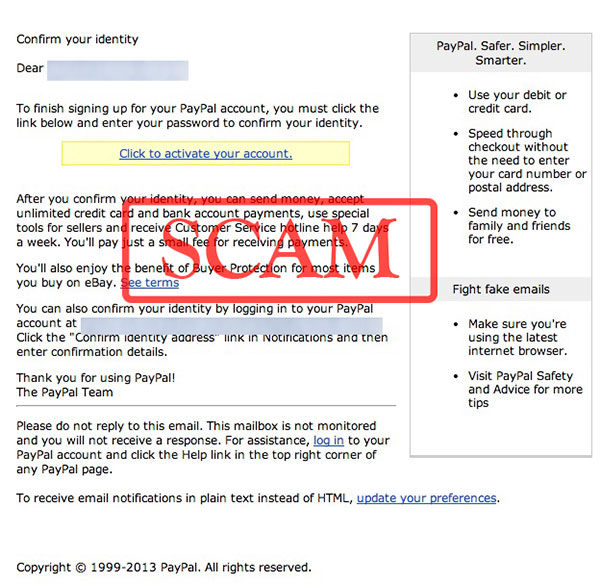 fake confirmation required paypal emails used to spread malware