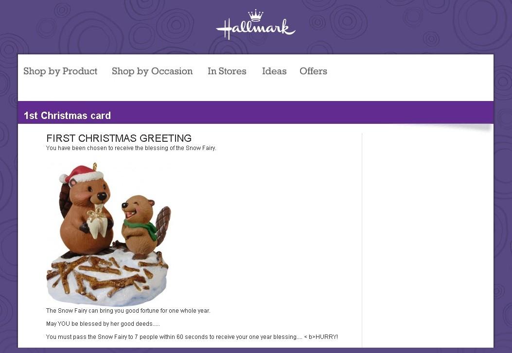Fake hallmark christmas card emails carry malware fake hallmark email m4hsunfo
