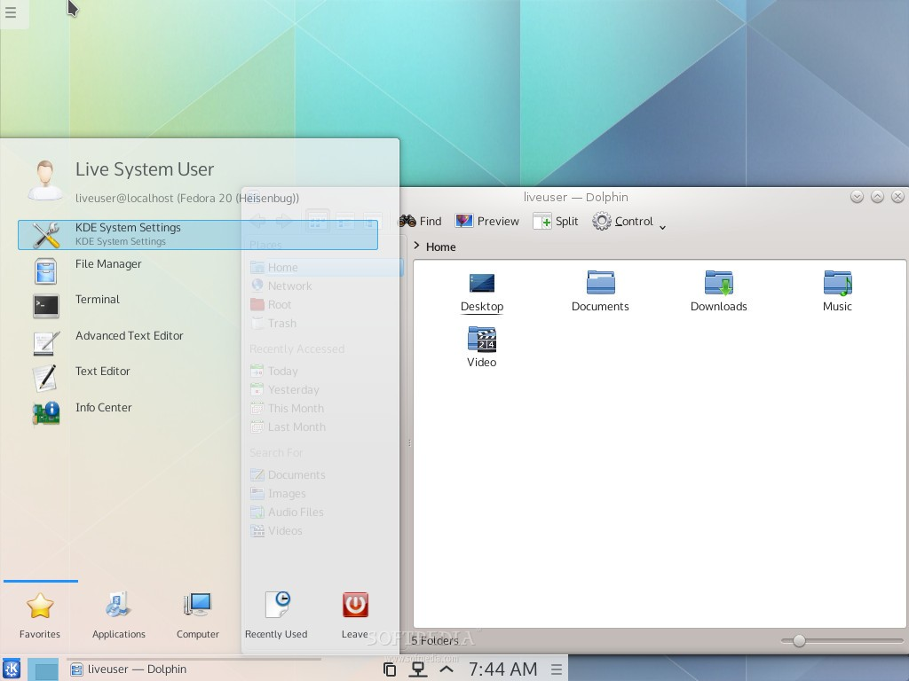 Fedora 20 with KDE Frameworks 5 and Plasma Next Looks Awesome
