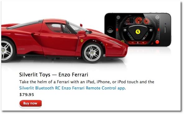 Apple Advertises Silverlit Toys Ferrari RC Car On Its Web Store