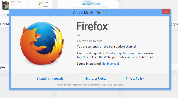 Firefox 25 Beta Available for Download