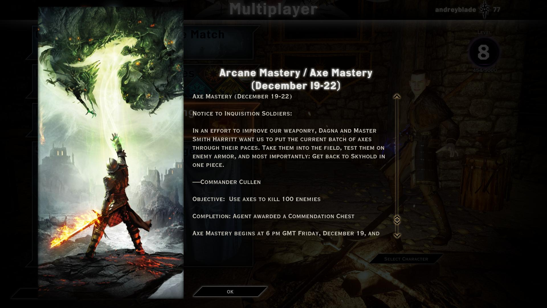 First Dragon Age: Inquisition Multiplayer Weekend Event Is Live