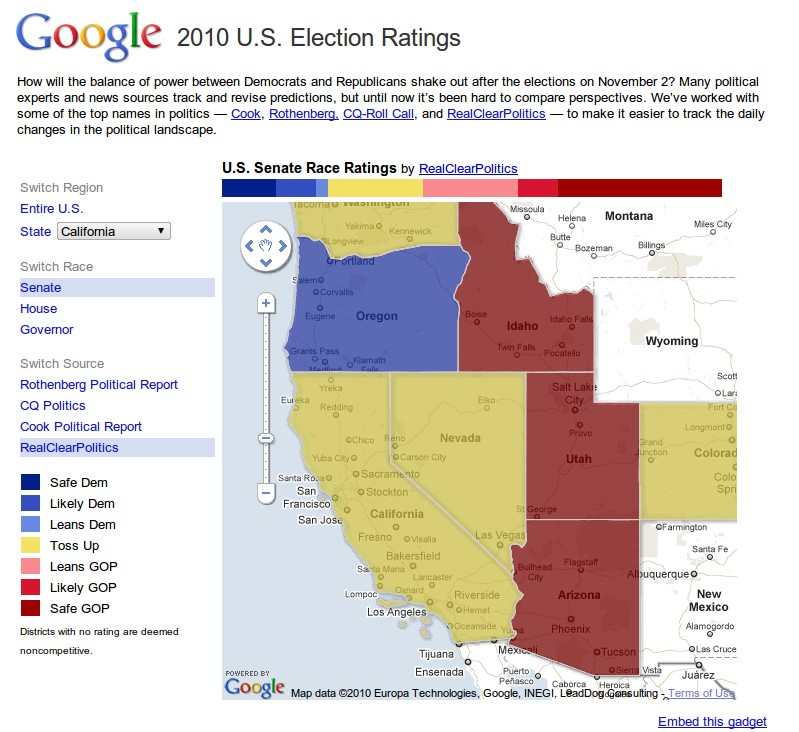 Follow The Midterm Us Election Race With Google Maps - Google-us-election-map