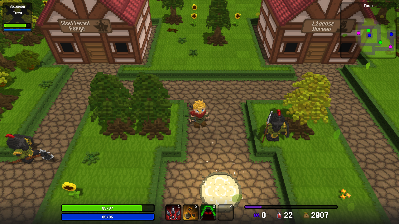 Forge Quest Procedurally Generated Voxel-Based Game Now Out for Linux