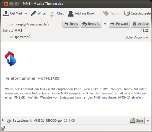 German and Swiss User Warned About Fake Swisscom and T