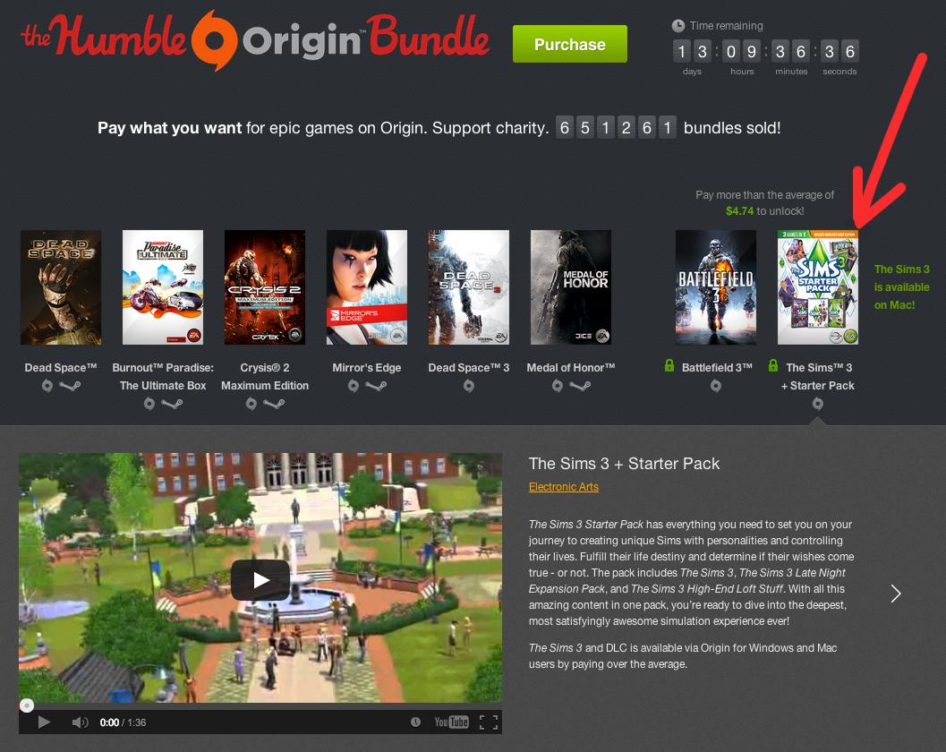 Get The Sims 3 for Mac Dirt Cheap via the Humble Origin Bundle