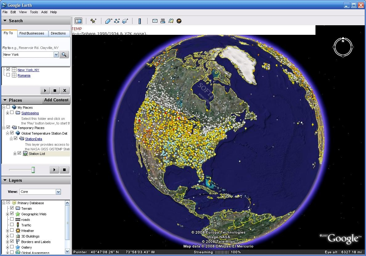 Global temperature in google earth the database provides information for most countries around the world temperature gumiabroncs Image collections