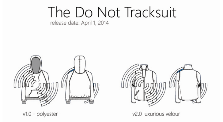 Go Invisible with Microsoft's Do Not Tracksuit