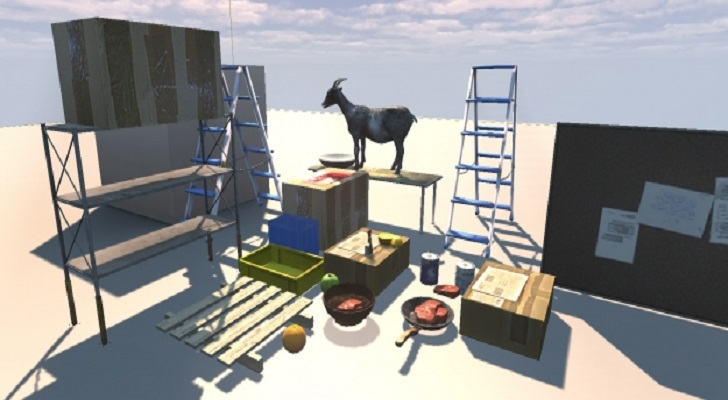 Goat Simulator Started Out with 4 Houses and a Goat on a UDK Map