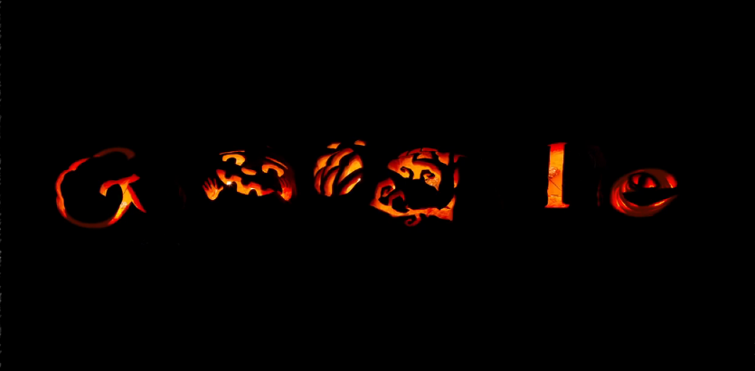 Beau Googleu0027s Halloween Pumpkins Glowing In The Dark