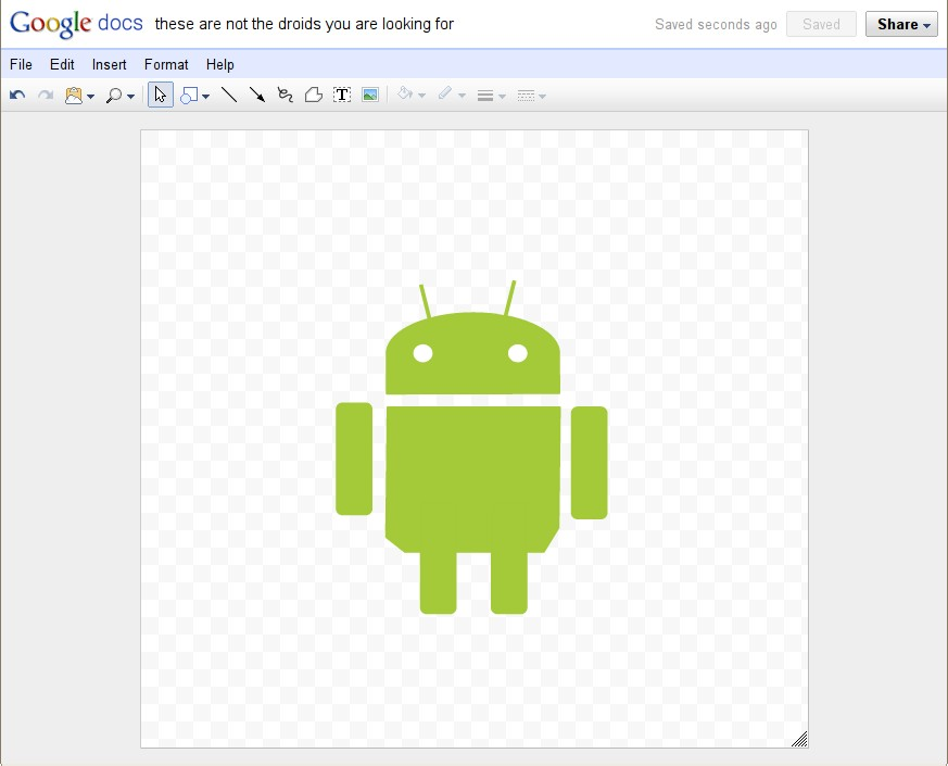 Google Docs New Drawing Editor