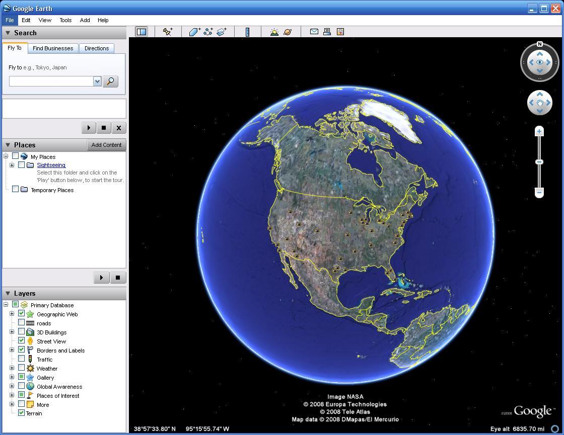 Free download software: google earth 4. 3. 7204. 3916 beta.