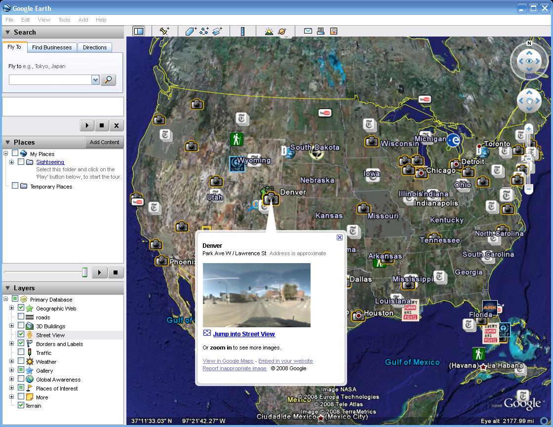 Google earth 4. 3 released and available for download.