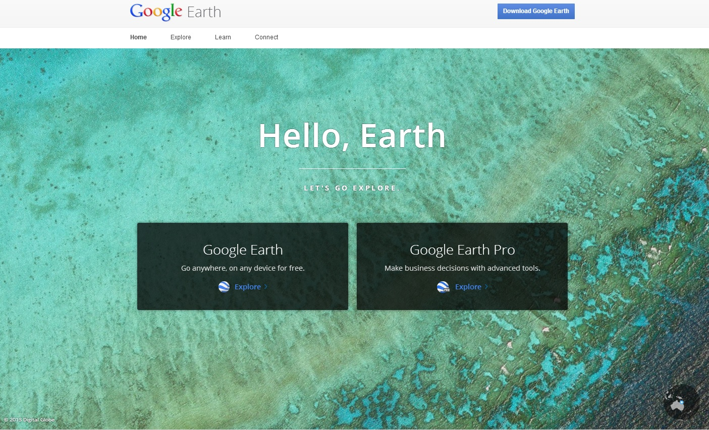 Google Earth Now Lets Users Download Wallpapers