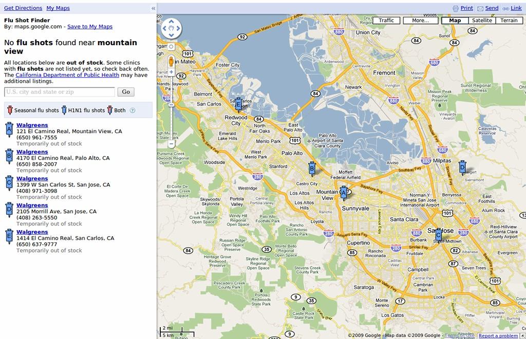 Google Launches Flu Shot Map on