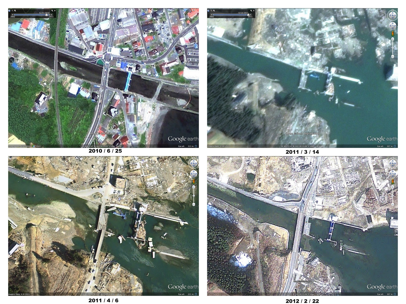 Google Maps Gets Fresh Satellite Images for the Tsunami