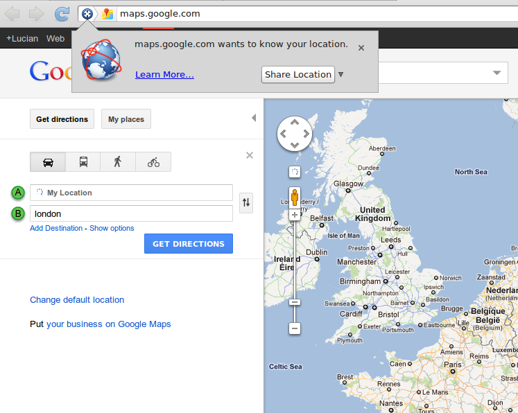 Google Maps Now Uses Geolocation for 'My Location' Directions ... on