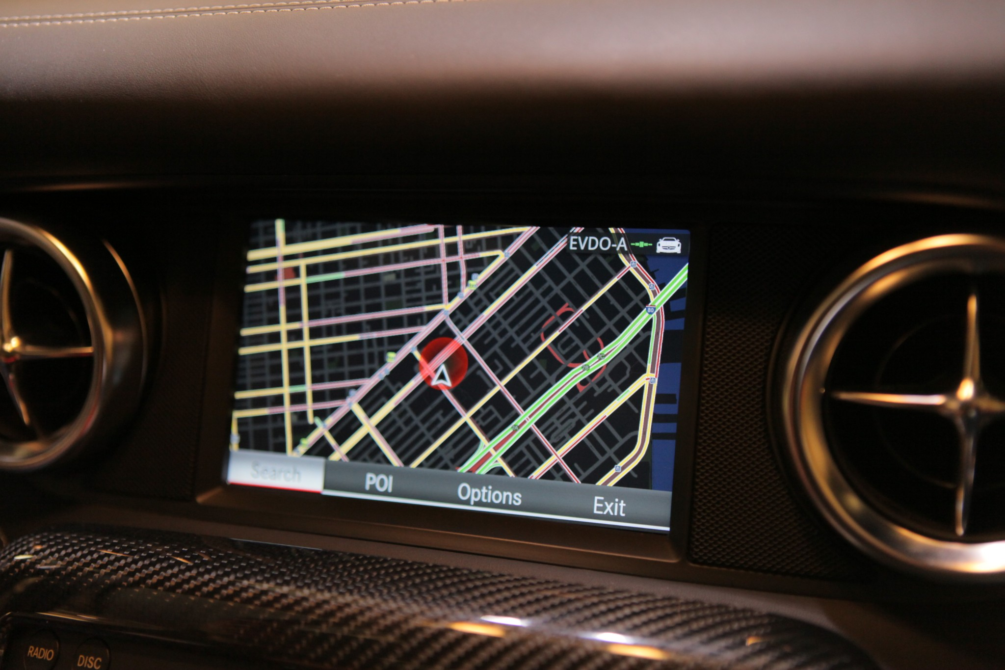Google Maps in the Mercedes-Benz SLS AMG – Photo Gallery