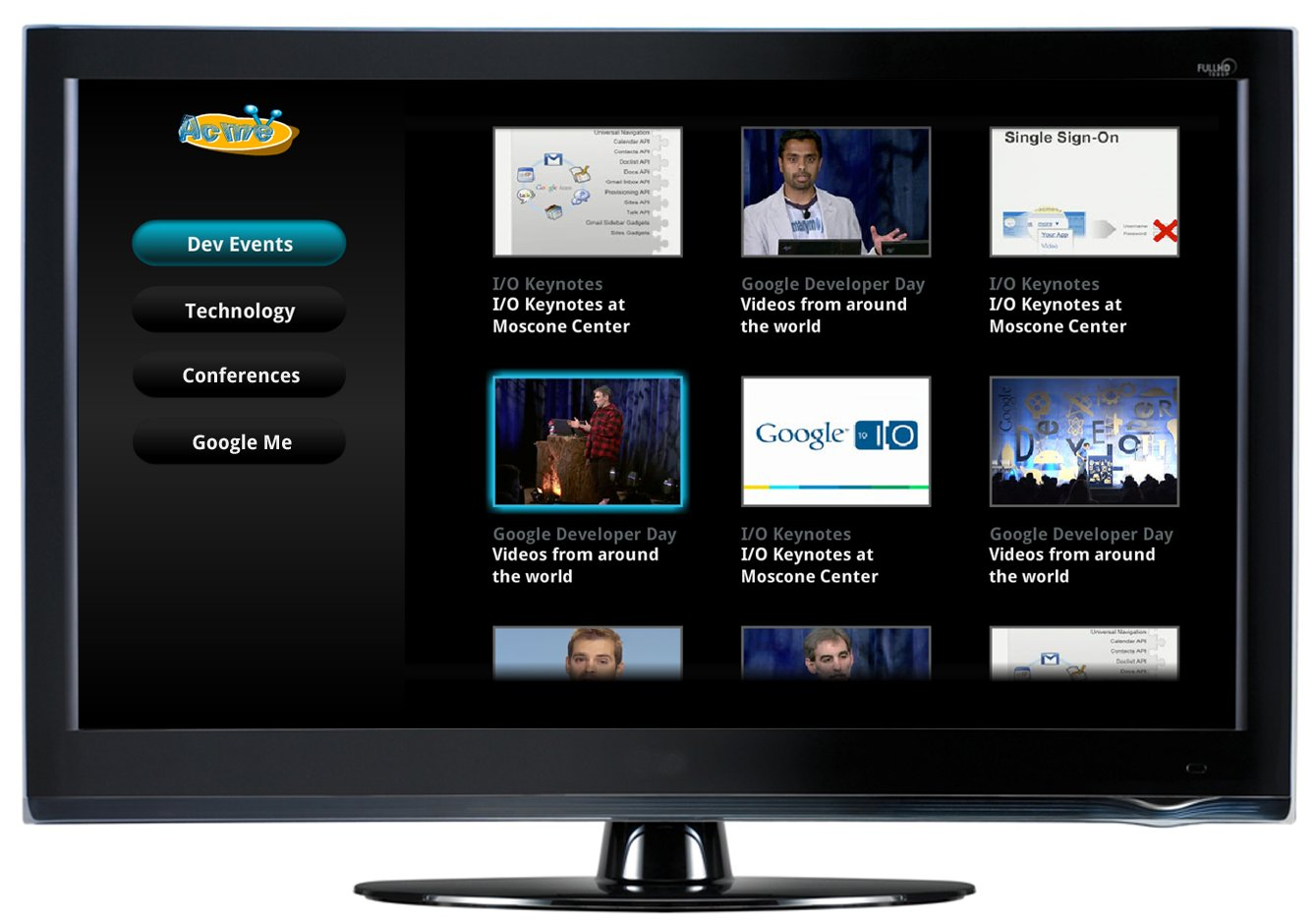 google releases a couple of website templates to spur google tv