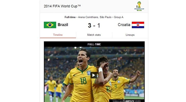 Google Teams Up with ESPN, Provides World Cup Video