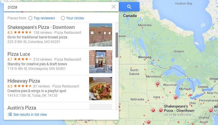 Google Updates Maps to Include a Scroll Bar in Search Results