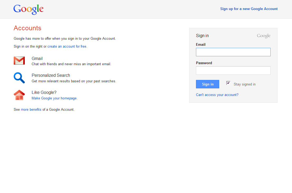 Google\'s New Design in Testing on the Login Page