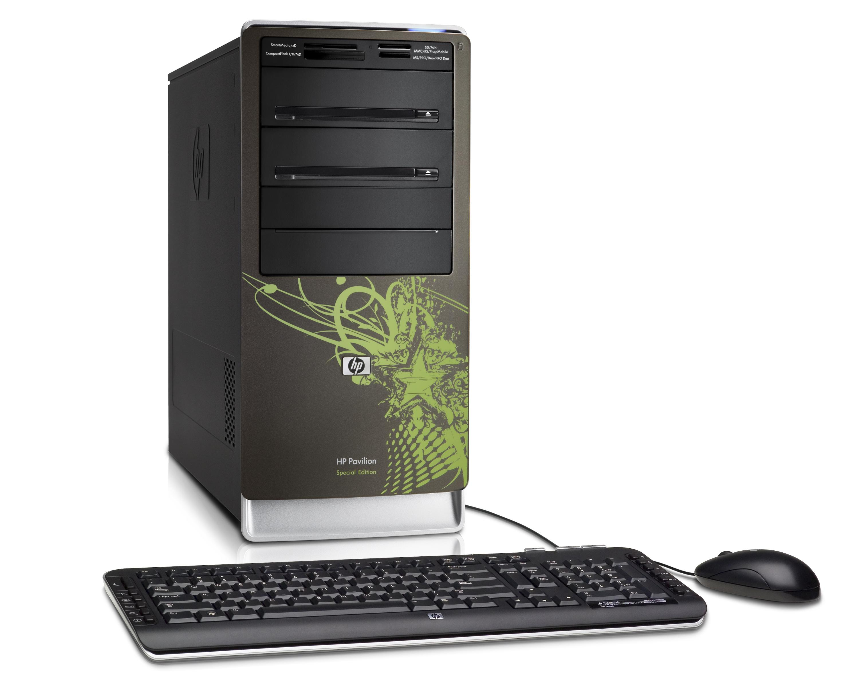 Hp goes greener with two desktop pcs and a display.