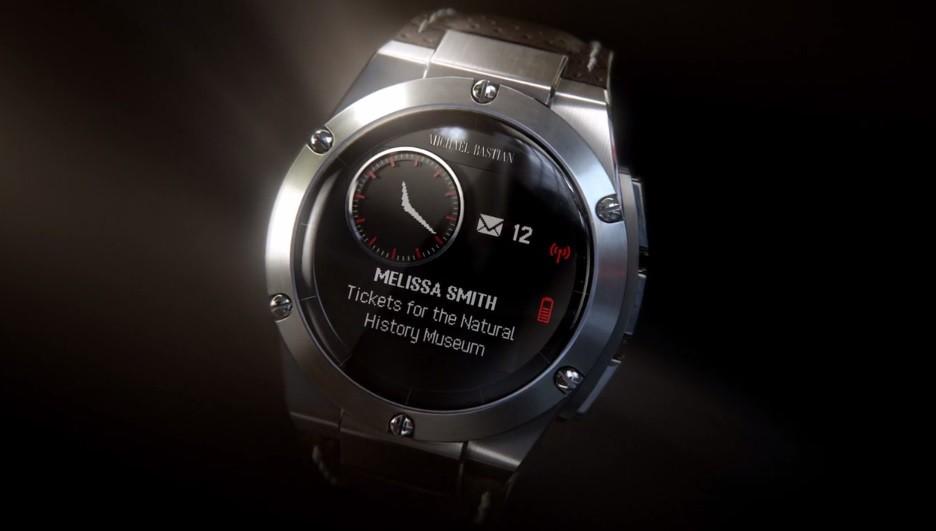 HP Luxury Smartwatch Shown Handling Facebook Notifications ...