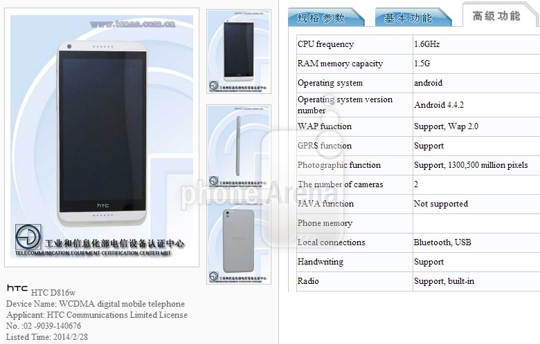 HTC Desire 816 to Run Android 4 4 at Launch, Will Arrive in