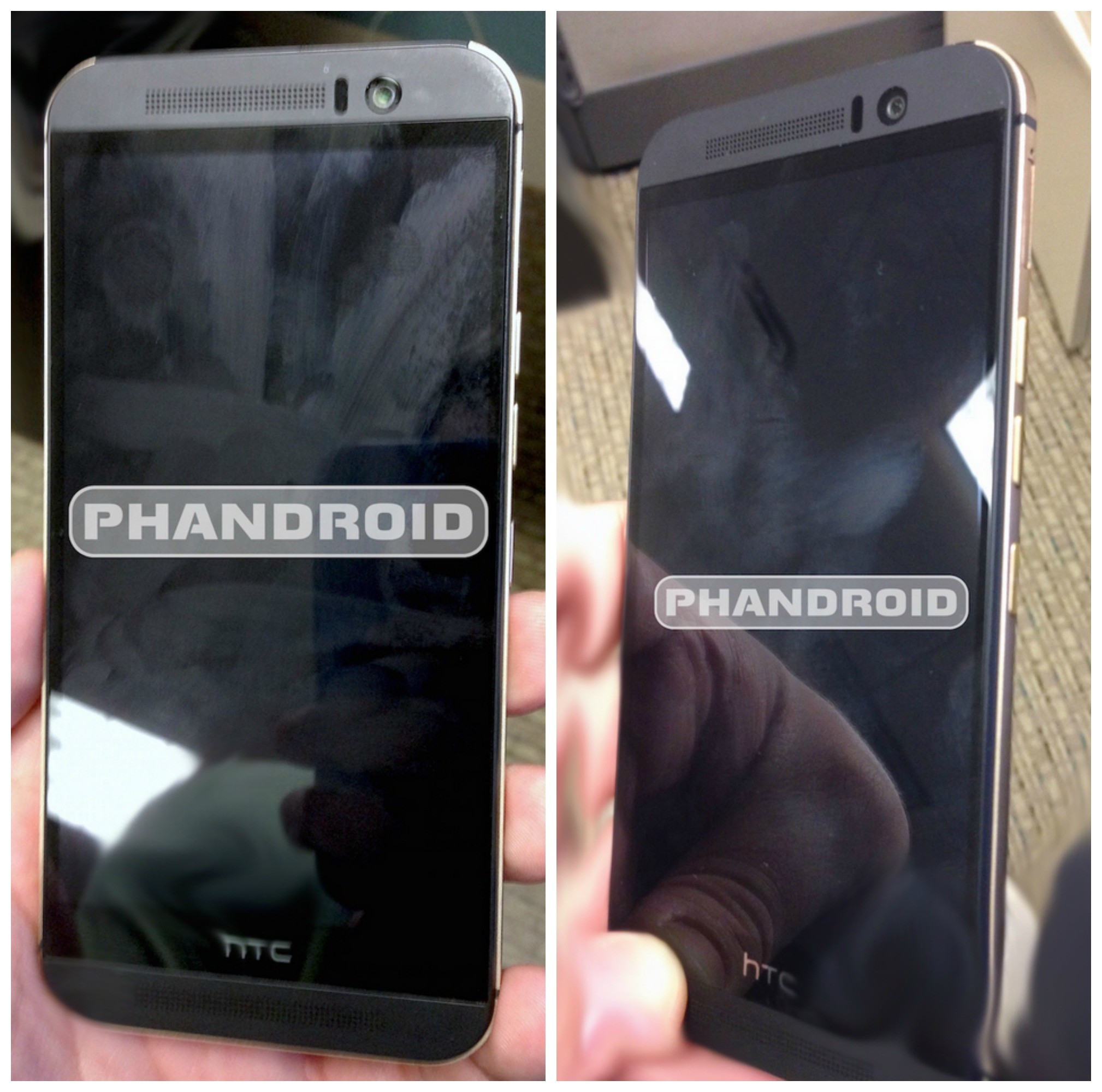 Htc One M9 Leaks In Live Pictures Specs Confirmed Partially Front Right Side