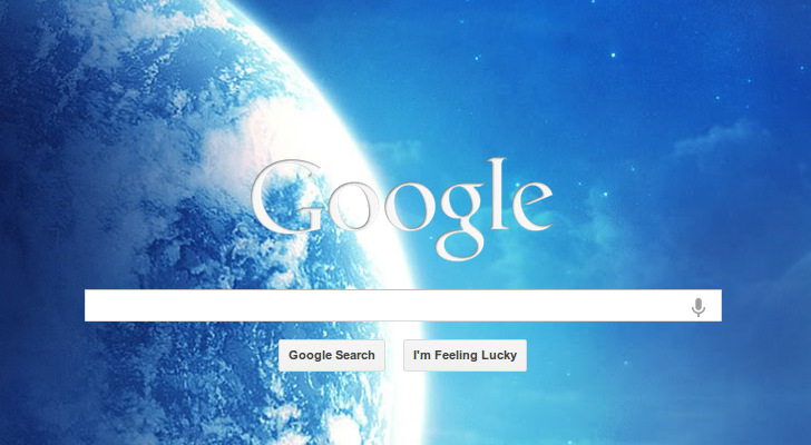 how to bring back the google homepage background image in chrome