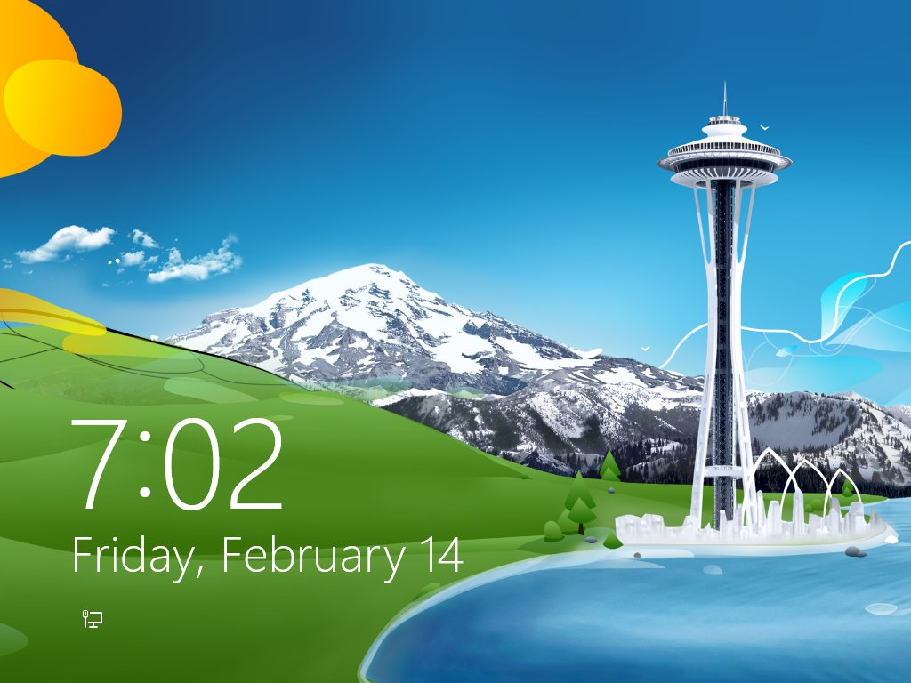 The Lock Screen Has Debuted In Windows 8 October 2012