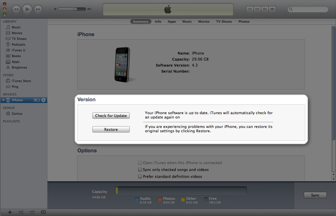 Updating itunes software on ipod touch
