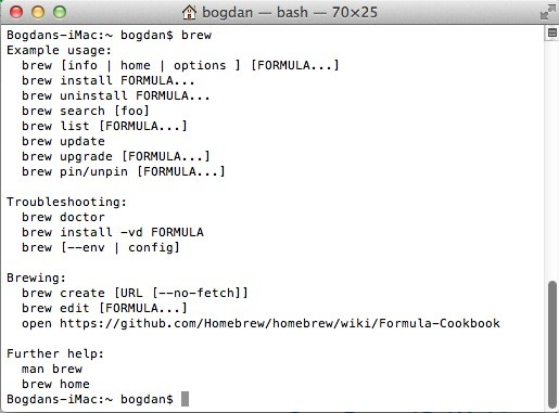 Install Homebrew (Brew) on Mac OS X