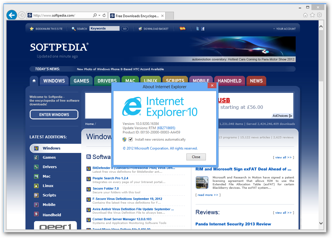 Internet Explorer 10 Is the Fastest Browser, Better Than Chrome 20