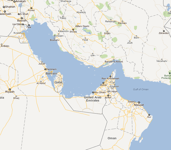 Iran Chastises Google for Missing Persian Gulf in Maps
