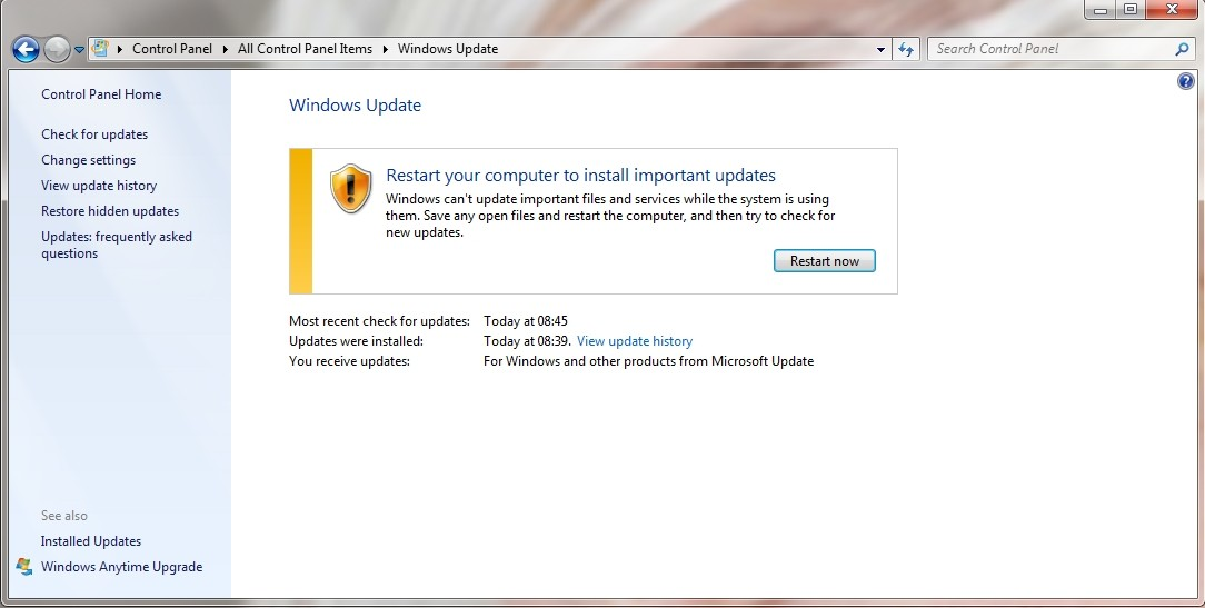 windows 8.1 wont update after fresh install