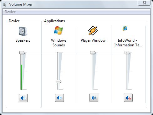 Kill the Windows Vista Startup Sound via Volume Mixer